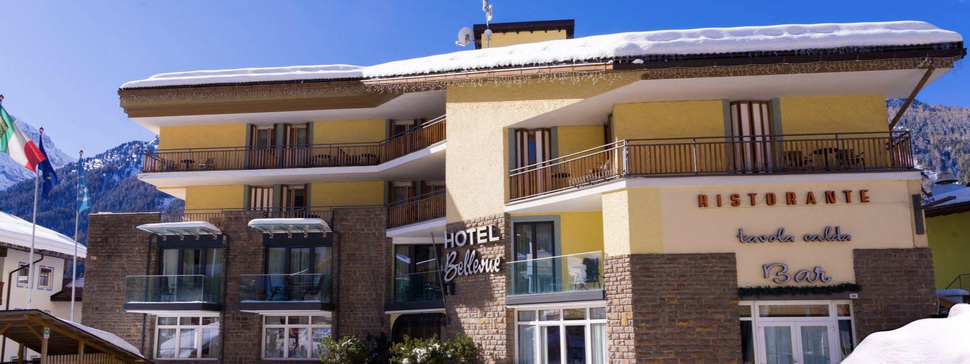 Canazei: Hotel Bellevue (HOTELBUS) – halvpension